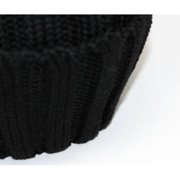 Berretto in 100% lana merino a coste...