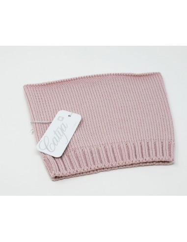 Neckband in 100% merino wool colour pink