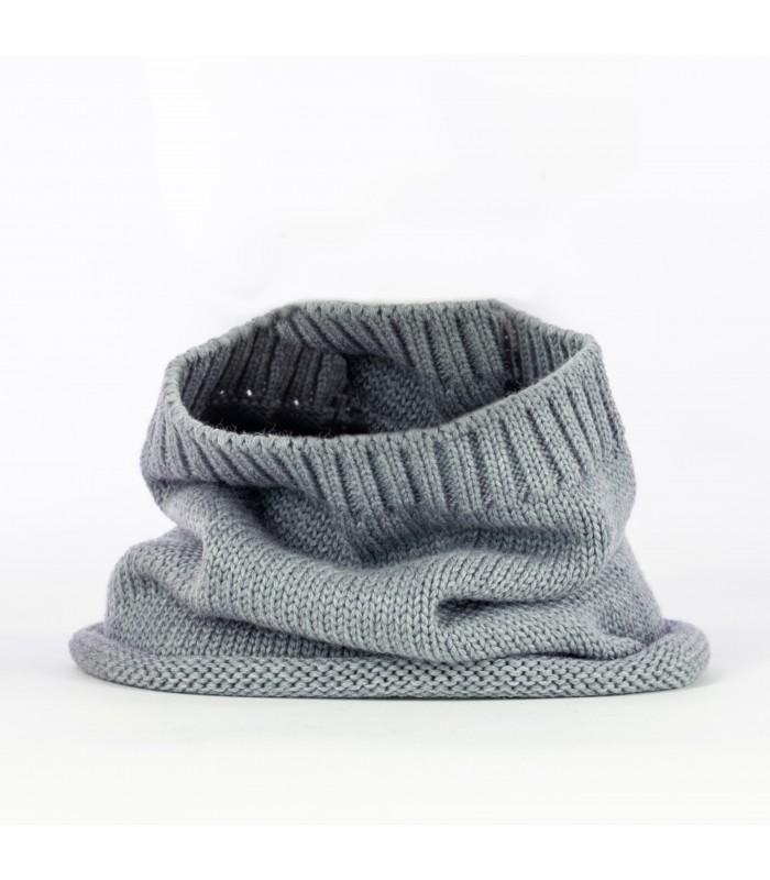 Neckband in 100% merino wool colour grey