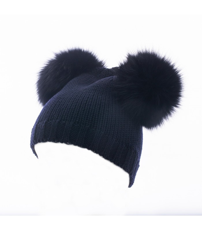 Hat realized in 100% shaved merino whool made in Italy with two real ... 3f6225777346